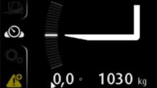 Linde load weight indicator