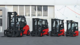 Linde Material Handling electric forklift trucks with compact axle drive