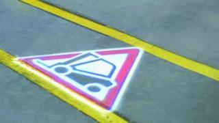 Linde TruckSpot warning light system