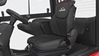 Operator's seat of the new forklift truck