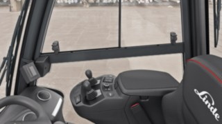 Operator's cab of the new forklift truck