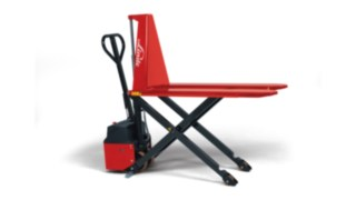 The Linde M10 X/XE Hand Pallet Truck with scissor lift.