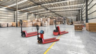 The M25, M25 Scale+ and M10 X hand pallet trucks from Linde Material Handling