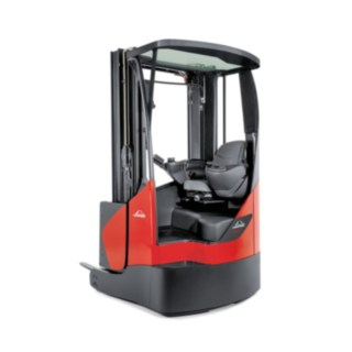 reach truck from Linde with glass roof