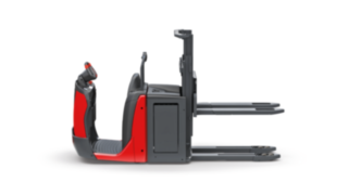 The double-deck order picker N20 D, N20 D HP from Linde Material Handling enables the simultaneous loading and transport of two pallets at different heights.