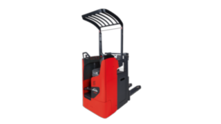 The Linde Material Handling D12R pallet stacker