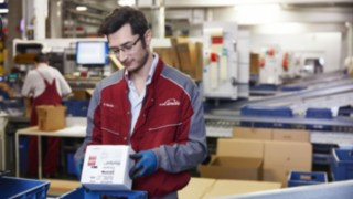 Linde spare parts ready for shipment
