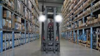 LED worklight in front of the truck