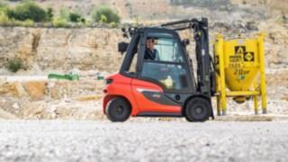 H20 diesel forklift truck in a quarry