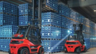 Linde BlueSpot™ being used by a drinks supplier