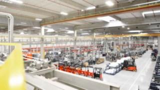 Linde reach trucks are produced at the KION plant in Stříbro, Czech Republic.