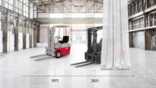 Evolution of Linde Material Handling's electric forklift trucks