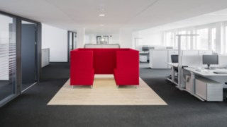 Renovated office space at Linde Material Handling