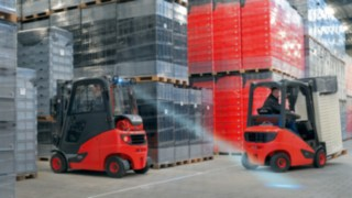 The new diesel, LPG and CNG forklift trucks Linde H14 to H20 EVO.