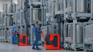 Linde pallet truck with Linde Load Management assistance system