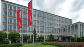 Linde's completely modernised headquarters at Carl-von-Linde-Platz in Aschaffenburg, Germany, where it has created an entirely new and sustainable work environment for its employees.