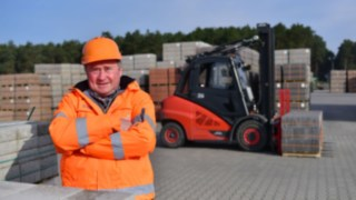 This forklift truck can be driven by people with physical disabilities and those without.