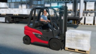 Animation of the H20–H35 diesel forklift truck