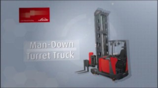 Product video about the functions and advantages of the Linde Material Handling very narrow aisle trucks.