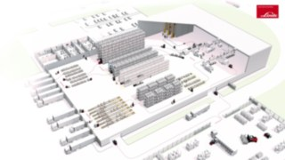 Illustration of the processes in a schematic warehouse