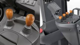 Wooden joysticks for Linde forklifts