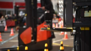 Training of a forklift operator by a Linde trainer